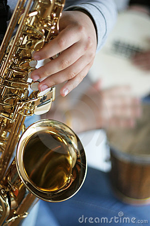 Free Saxophone Player Stock Images - 812154
