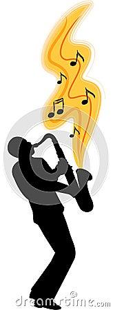 Saxophone player/ai