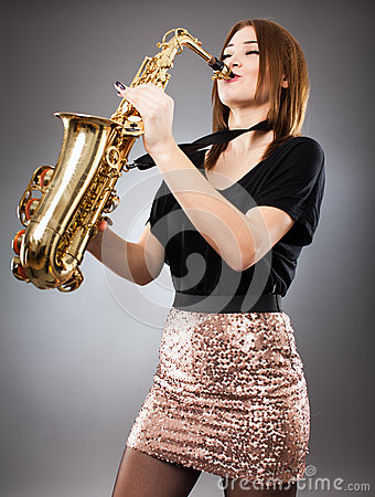 Free Saxophone Player Closeup Royalty Free Stock Photo - 39056815