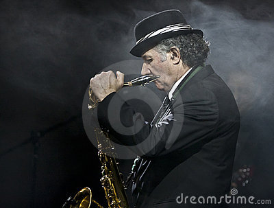 Saxophone Player at the Vienna Ball Editorial Stock Photo