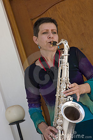 Saxophone playing