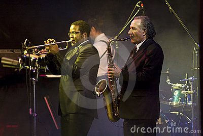 Saxophone and Trumpet Players at the Vienna Ball Editorial Image