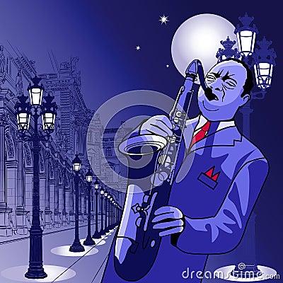Saxophonist in Paris