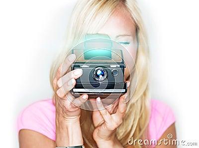 Say cheese! vintage photo camera