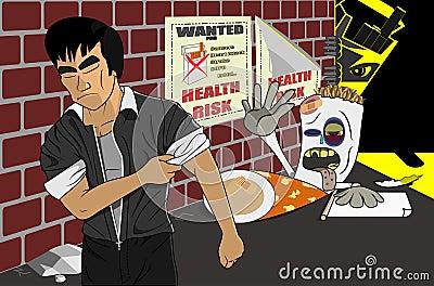 Say No Reject Quit Smoking Cigarette Illustration Vector Illustration