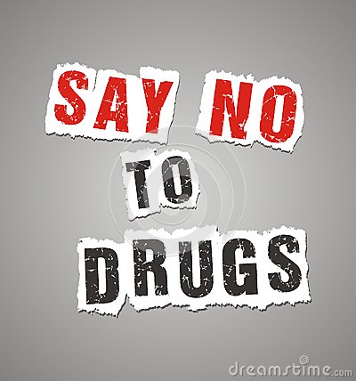 Free Say No To Drugs Poster Royalty Free Stock Photos - 34182318