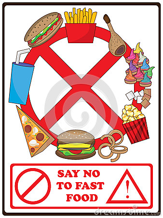 Say No To Fast Food_eps Vector Illustration