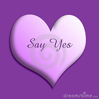 Say yes valentine heart