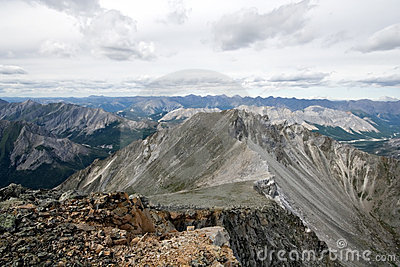 Sayan mountains ridge and rocks in Siberia.Russia.