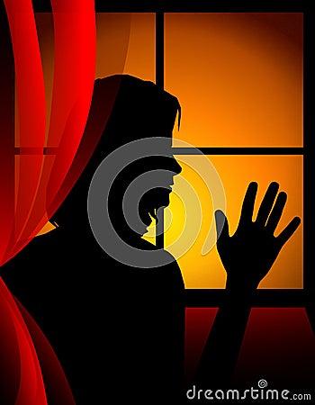 Free Saying Goodbye At Sunset Window Stock Image - 4364371