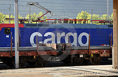SBB Cargo locomotive Editorial Stock Image