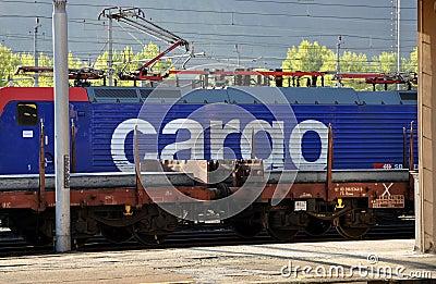 SBB Cargo locomotive Editorial Stock Image