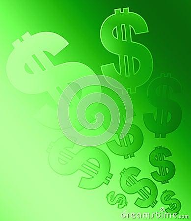 Sbiadisc della priorità bassa dei segni del dollaro