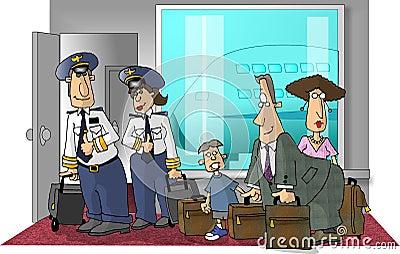 Scène d aéroport