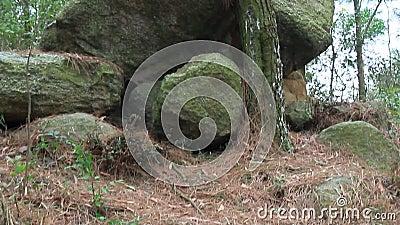 Scènes van rotsachtig berglandschap stock footage