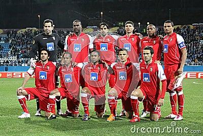 SC Braga team pose for a group photo Editorial Photography