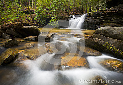 SC Waterfall Relaxing Landscape Blue Ridge Nature