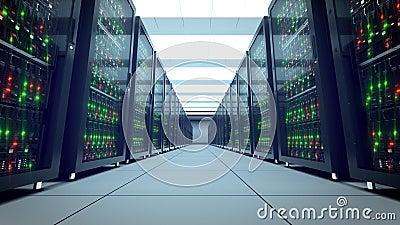 Scaffali dei server Datacenter moderno SMAU 2010 - Microsoft si apanna la computazione 8k UHD stock footage