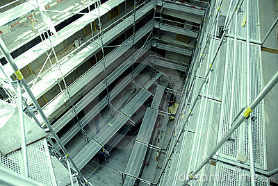 Scaffold at Construction Site