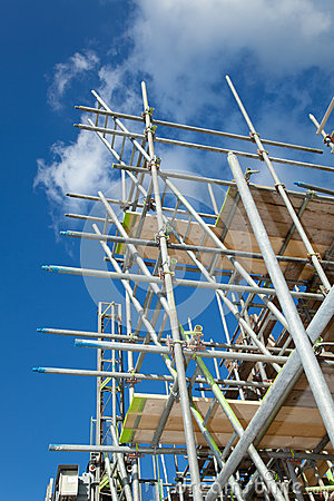 Scaffolding on a building site