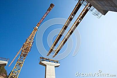 Scaffolding, construction site