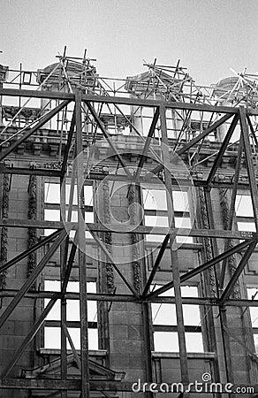 Scaffolding on historic London
