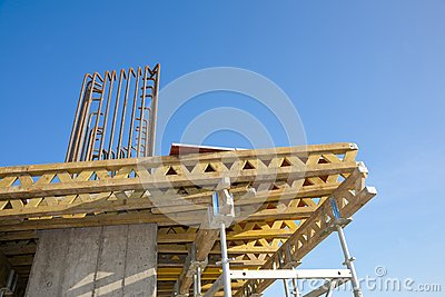 Scafolding structure on a construction site