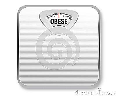 Scala obesa del peso