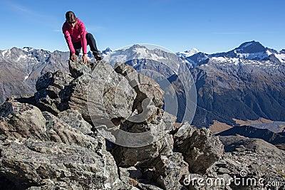 Scalando nelle montagne
