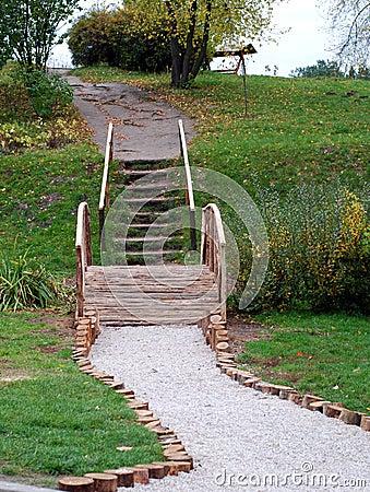 Scale di legno nel giardino botanico fotografia stock libera da diritti immagine 6963015 - Scale in giardino ...