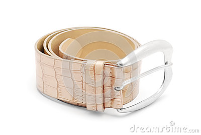 Scale leather belt