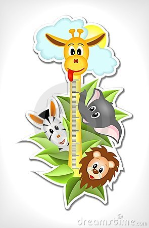 Scale with merry animals