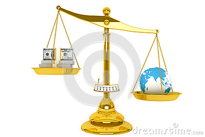 Scale, Money and Globe