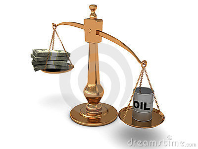 Scale with oil and money