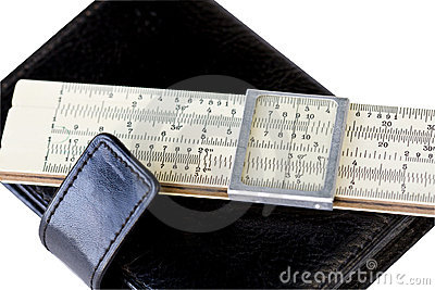 Scale ruler on black moleskin