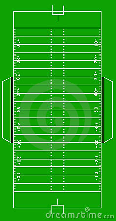 Free Scale Vector American Football Pitch Stock Images - 9745674