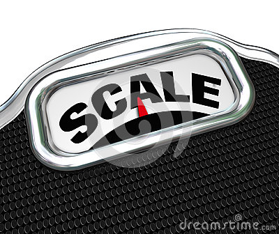 Scale Word on Measurement Tool Device Measuring Weight