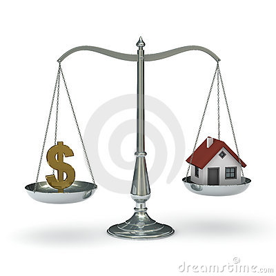 Free Scales Dollar House Royalty Free Stock Image - 11751566
