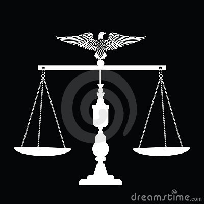 Scales of Justice with Eagle