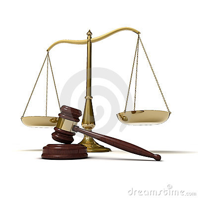 Scales justice gavel