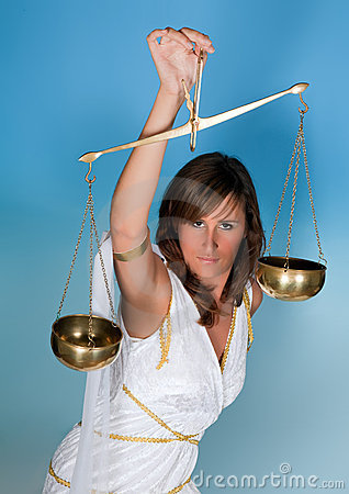 Scales or Libra woman