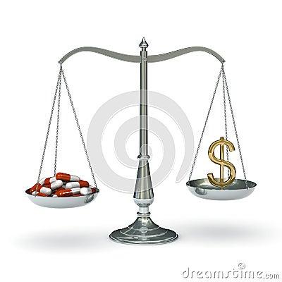 Scales medicine dollar