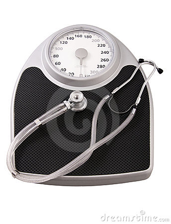 Scales and stethoscope