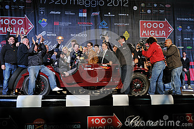Scalise and Claramunt win the 2012 1000 Miglia Editorial Photo