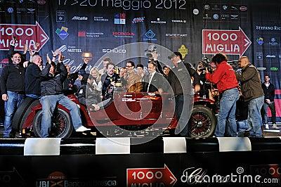 Scalise and Claramunt win the 2012 1000 Miglia Editorial Photo