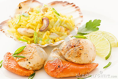 Scallop with rice