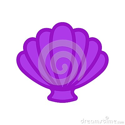 Free Scallop Sea Shell. Clam. Conch. Seashell - Flat Vector Stock Image - 115597621