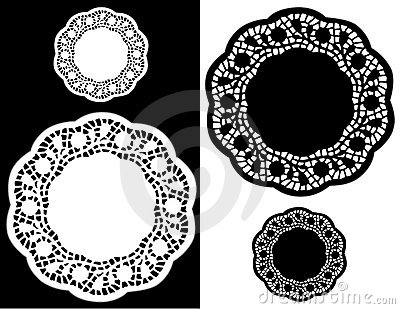 Scalloped Lace Doily Place Mats