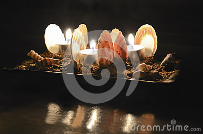 Scallops and candles