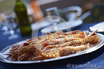 Scampi crabs